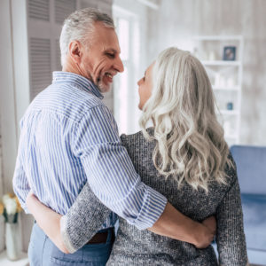 Senior couple at home Sexy House age in place