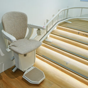 Automatic stair lift ageing in place